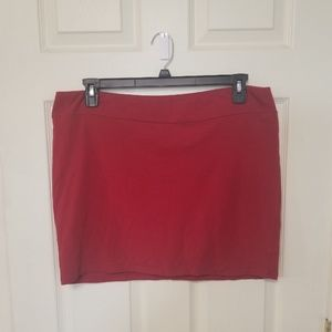 Stretchy XXL Red Skirt